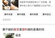 """百度上线辟谣平台 将在搜索中""""高亮""""标注谣言"""