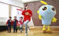 卫宝和苏宁小狮子空降上海幼儿园,萌娃爱上洗手