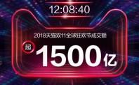 今日盘点:12ca88亚洲城网上娱乐成交超1500亿!天猫双11再破纪录