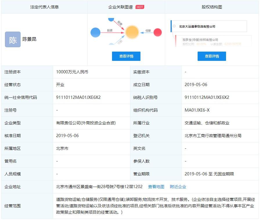 加多宝出资6000万成立物流企业_物流_电商报
