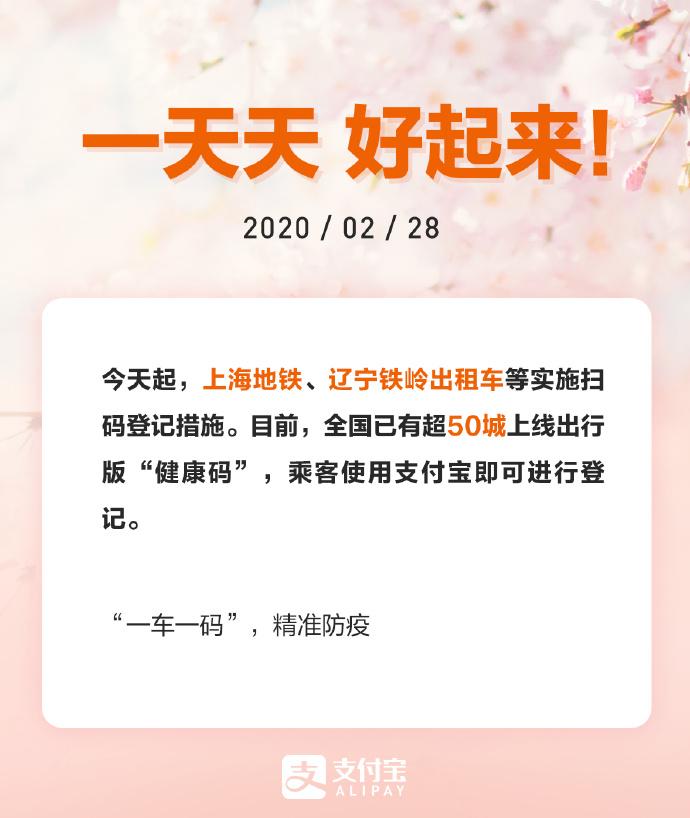 """支付宝:全国超50城上线出行版""""健康码""""_金融_电商报"""