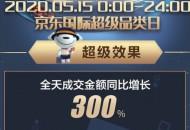 京东国际515超级品类日全天成交额增长300%