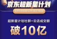 京东超新星计划:618期间社群及云店成交额破10亿