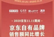 京东自有品牌11.11全球热爱季成交大增248%