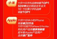 京东11.11完美落幕:华为斩获11日全天成交额安卓手机品牌 Top1