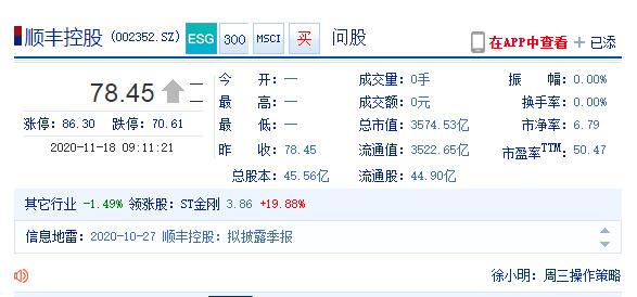 顺丰控股否认将赴港上市_物流_电商报