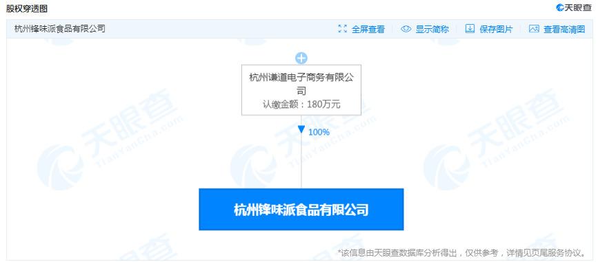 薇娅关联公司成立食品新公司 注册资本180万_人物_电商报