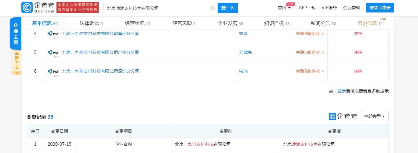 一九付公司正式更名为滴滴支付_金融_电商报