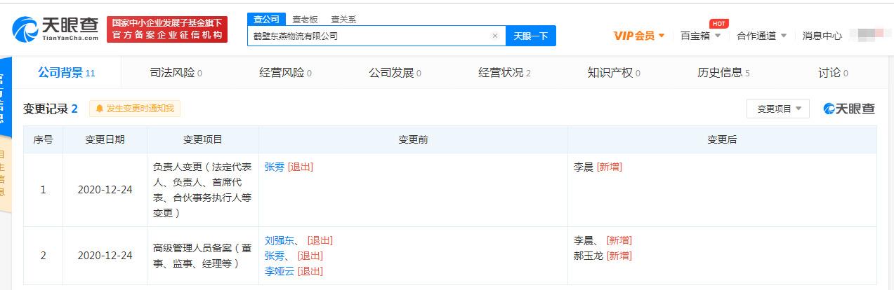 刘强东退出鹤壁东燕物流有限公司相关职位_人物_电商报