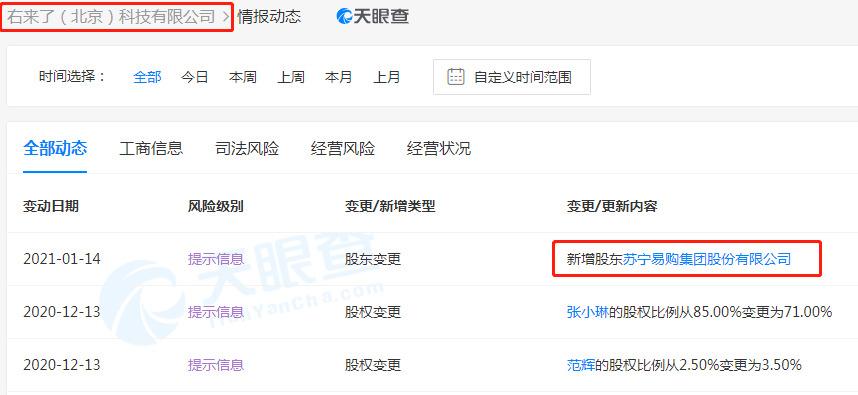 """苏宁易购入股社交驱动型会员电商平台""""右来了""""_零售_电商报"""